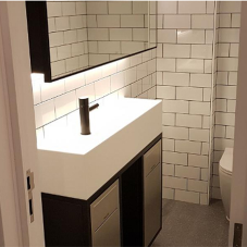 Luxury washrooms for art deco building