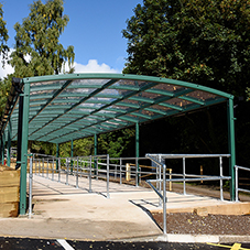 Broxap canopies for Coleg Cambria
