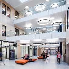 Armstrong Ceilings feature in striking new library