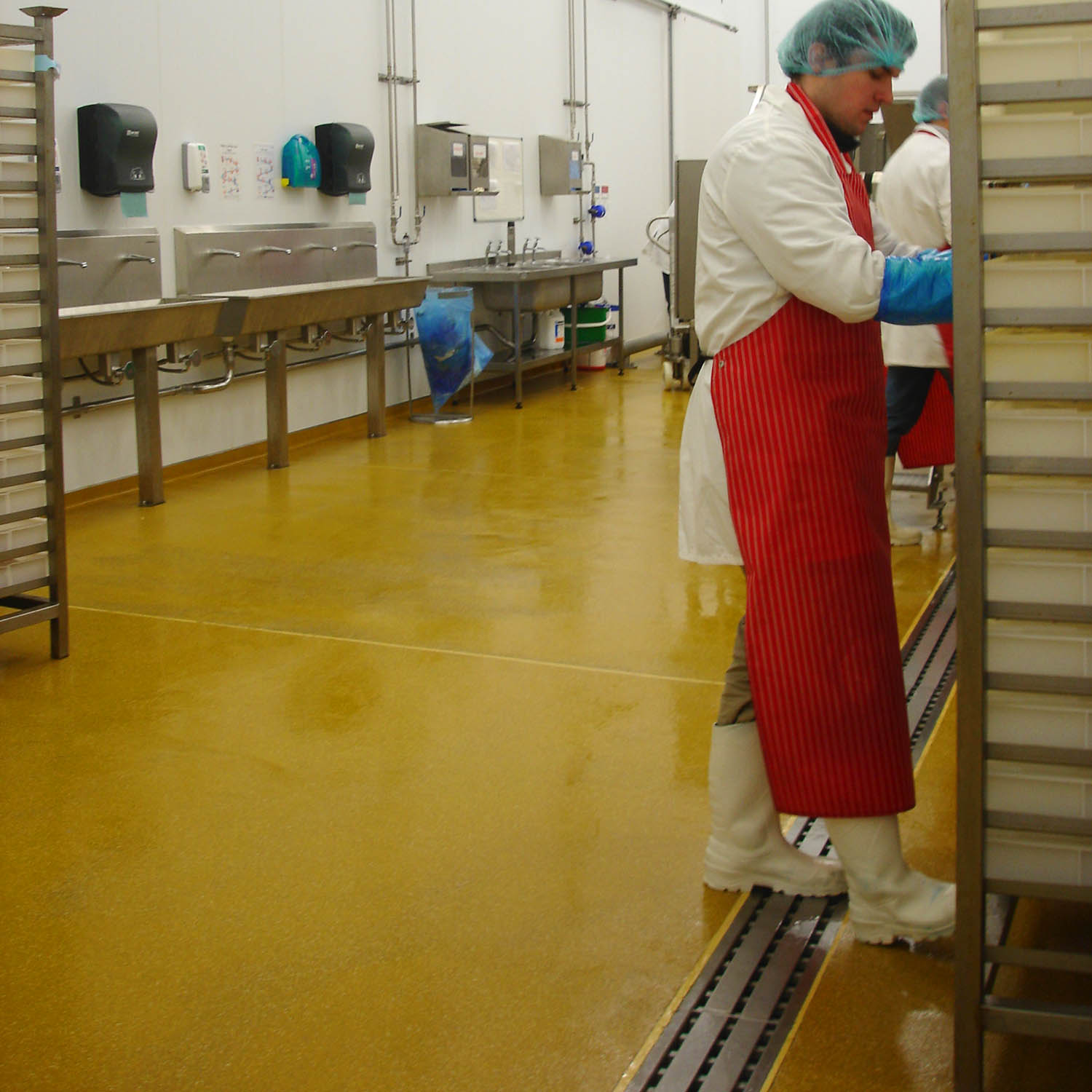 Hygienic flooring & drainage for food production