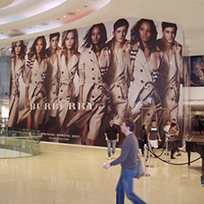 Large indoor hoardings for Burberry