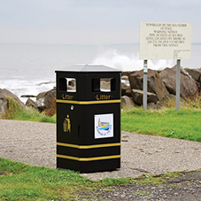 Weather-proof litter bins for Newbiggin by the Sea