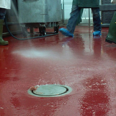 John Lord's anti-slip resin flooring for meat factory