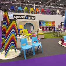 Spaceforme Bett Show stand looks amazing