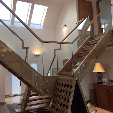 H & S Joinery install bespoke floating staircase