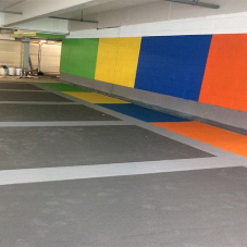 Rapid-set flooring solution for car park refurb