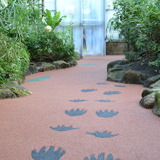 Creative paving for Stratford Butterfly Farm