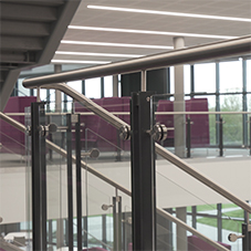 Balustrades provide dynamic look for HS2 college