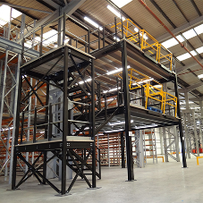 How much does a warehouse mezzanine floor cost