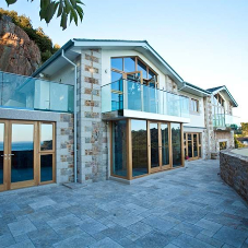Contemporary frameless glass balustrade at Jersey home