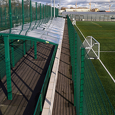 Spectator shelters for Market Road football pitches