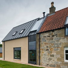 Contemporary contrast for farm extension