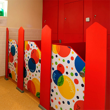 Wow-factor nursery school washrooms for Little Ripley