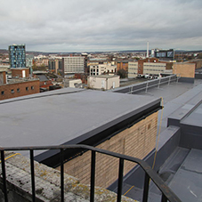 Single ply membrane for city-centre hotel conversion