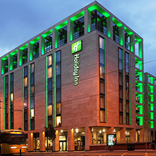 Curtain walling system for Holiday Inn