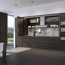 Space saving kitchen doors