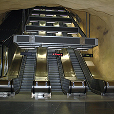 Heavy-duty escalators for Akalla metro station