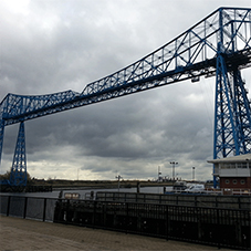 Mesh infills for refurbished Tees Transporter Bridge