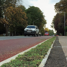 Improved cycle route with with Sedum border
