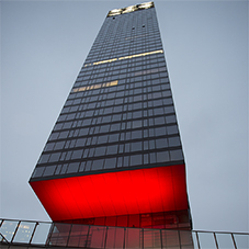 Pulsar architectural lighting for Cosmopolitan Tower