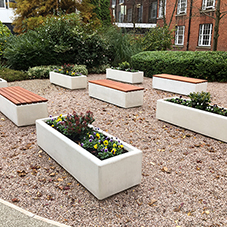 Outdoor seating for Manchester University
