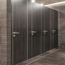 Material selection for washroom cubicles