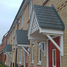 Recycled plastic porch canopies in Manchester