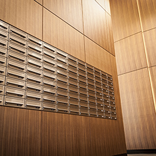 Mailboxes reflect luxury at London high-rise