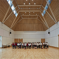 Solid hardwood flooring at Highgate Junior School