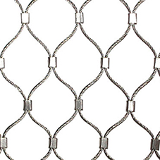 Rope diamond ferruled mesh offers flexibility