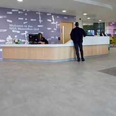 Vinyl flooring at Chesterfield Royal Hospital
