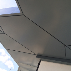 EFP's powder coated soffit profile at Beaufort Park