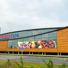 Silva Timber supply cladding for Tesco Widnes Superstore