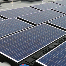 PV modules help meet sustainability target