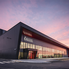 Stunning external façade for Magna International factory