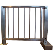 Heavy duty pedestrian gate solves problem