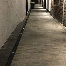 ACOs Eyeleds provides subtle lighting and drainage in keeping with the historic setting of Augustine Court, Bristol