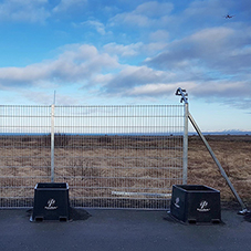 Temporary fencing system for Keflavik Airport