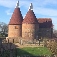 Tudor tiles helps in the restoration of Oast House