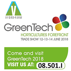 V-farm to showcase at  GreenTech 2018