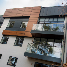 Contemporary cladding for new luxury apartment building