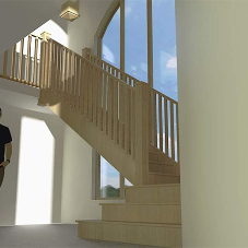 Bespoke solid oak staircase for home