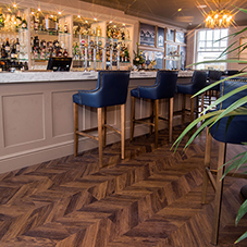 Parquet vinyl tiles for The Falcon Hotel