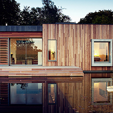 Woodtrend cladding and decking for New Forest house