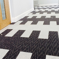 Array carpets create bright and modern work environment