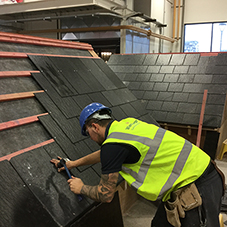 Roofing materials for Leeds College of Building