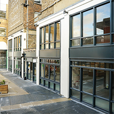 MTX shopfronts for London design and retail hub