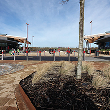 ACO StormBrixx used as tree planters at Rushden Lakes