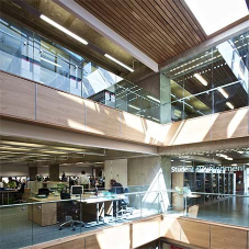 Structural glass balustrades for workplace