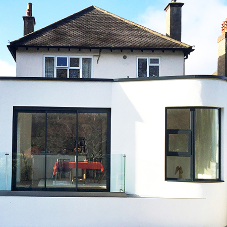 Click-Fix coping tops off extension of London home